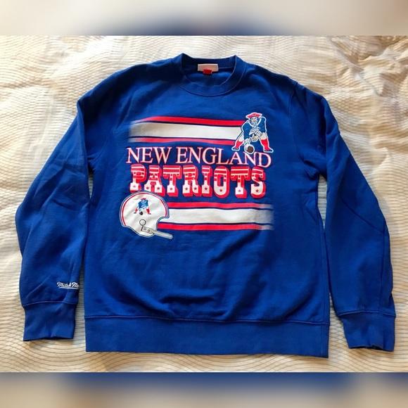 new product 1b1d7 d417c Mitchell Ness New England Patriots Sweatshirt Pats
